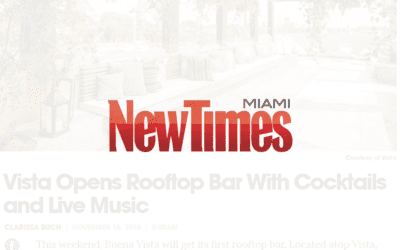 Vista Opens Rooftop Bar With Cocktails and Live Music