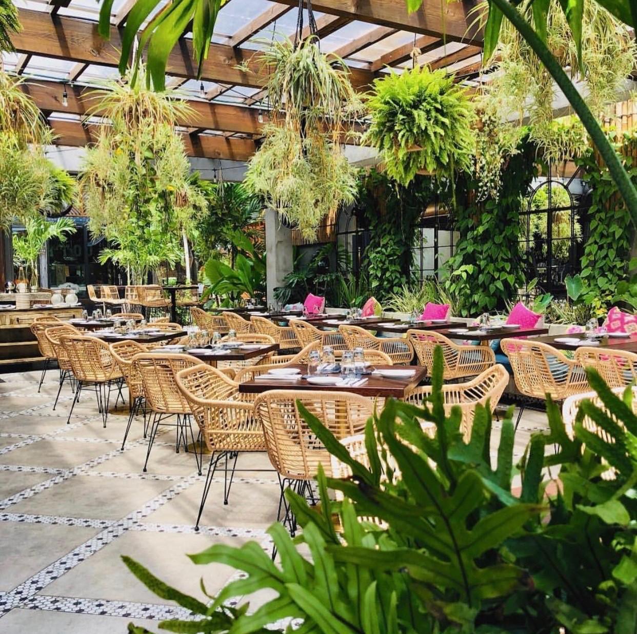 Patio of Vista Miami Restaurant